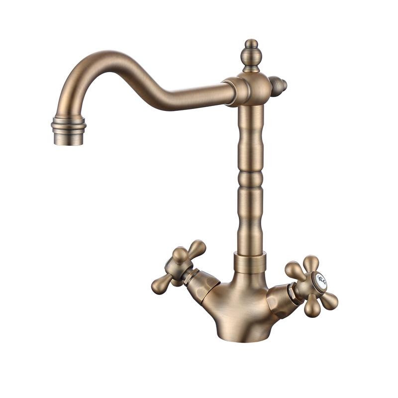110021AL single hole double handle kitchen faucet